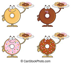 Four Cute Donuts 8. Collection