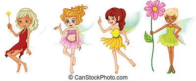 Four cute fairies