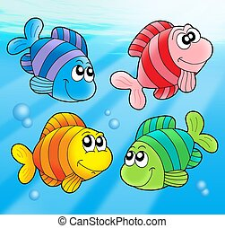 Four cute fishes
