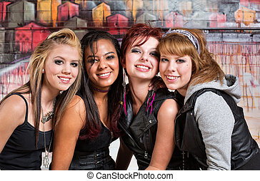 Four Cute Teens