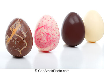 Four Decadent Easter Eggs - Four unique hand made easter...