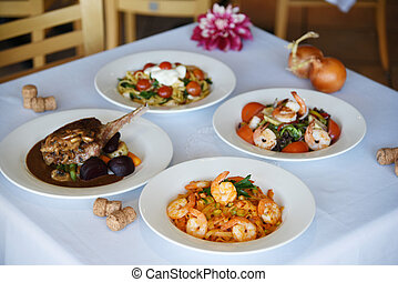 four delicious dishes at the restau