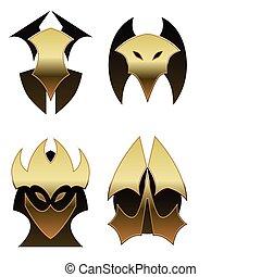 Four demon shields