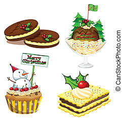 Four desserts for christmas