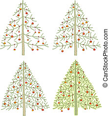 Four Different Christmas Trees