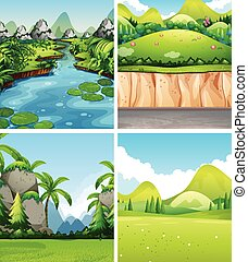 Four different nature scenes