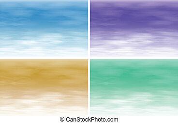 Four different textures