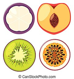 Four different types of fruits