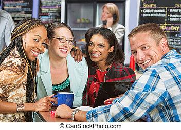 Four Diverse Friends