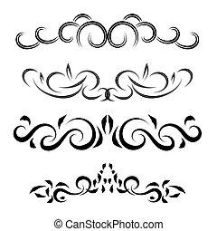 Four Elements set vintage  on white vector eps 10