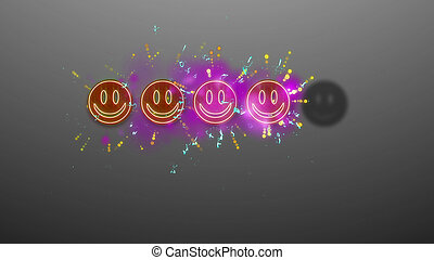Four Emoticons Rating Image