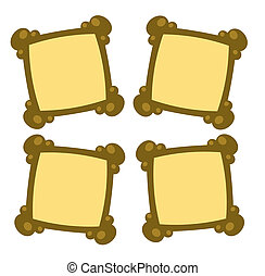 four empty photo frames - illustration