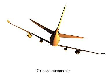 Four Engine Jet Airplane