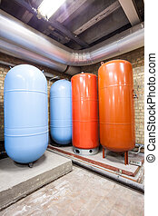 four expansion boilers
