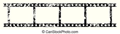 Four frames of 35 mm film strip