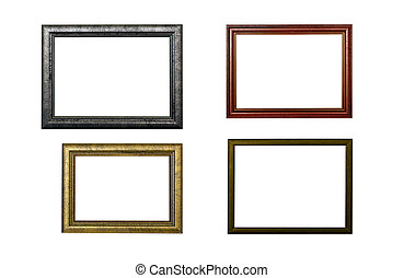 four frames on white background