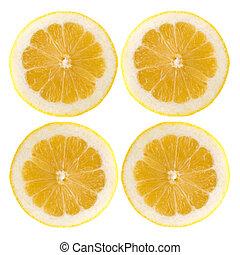 Four fresh lemon halves
