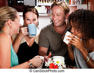 Four Friends in a Coffee House