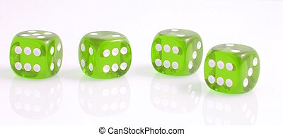 four green dice