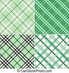 Four Green Plaids