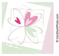 Four hearts- vector illustration