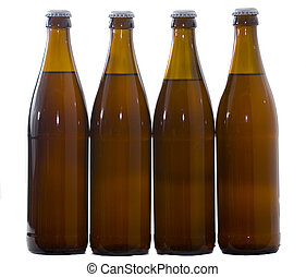 Four Home Brew beer bottles
