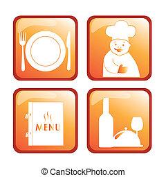 four icons for menu