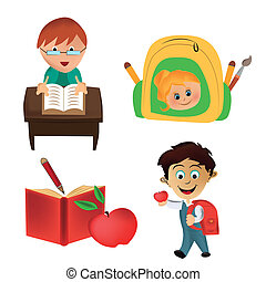 four icons for school