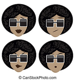 four icons of facial expressions