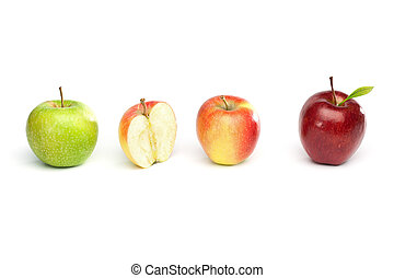 Four Isolated Apples in a Row
