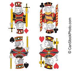 Four Jacks no card - Four Jacks without cards. Original...