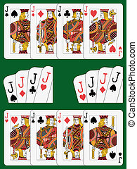Four Jacks - Playing cards: four jacks in four different...