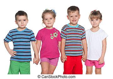 Four joyful children