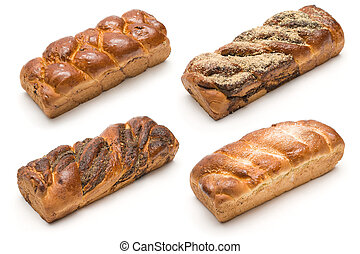 Four kinds of milk loaf