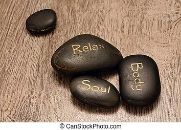 Four lava stones