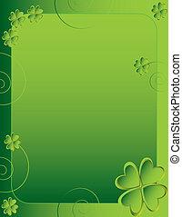 Four leaf clover backgroud