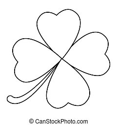 four leaf clover design isolated on white background