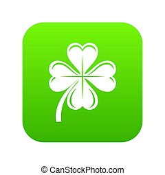 Four leaf clover icon green