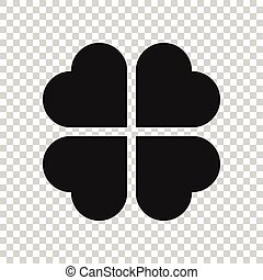 Four leaf clover vector icon. clover silhouette simple ...