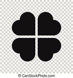 Four leaf clover vector icon. clover silhouette simple ...