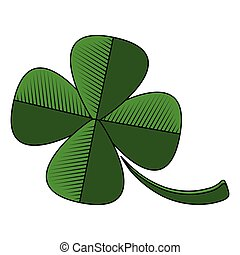 Four leaf clover icon. Patrick day. Vector illustration ...