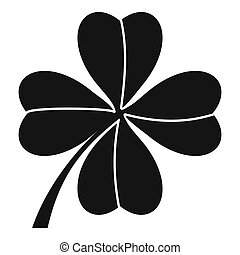 Four leaf clover icon, simple style