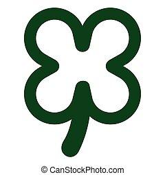 Four leaf clover - Isolated four leaf clover. Vector ...