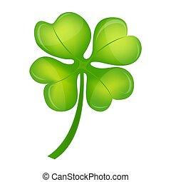 Four Leaf Clover on St. Patrick's Day