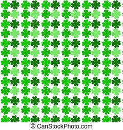 four leaf clover pattern background