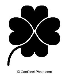 Four leaf clover solid icon. Shamrock vector illustration isolated on white. Plant glyph style design, designed for web and app. Eps 10
