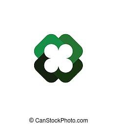 four leaf clover symbol vector logo element