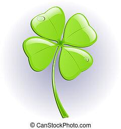Four leaf clover. Vector illustration. St. Patrick's day ...