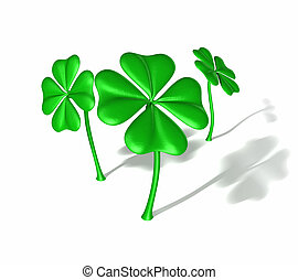 Four Leaf Clovers Version With Text