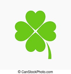 Four leaf green clover icon. St Patrick Day vector ...